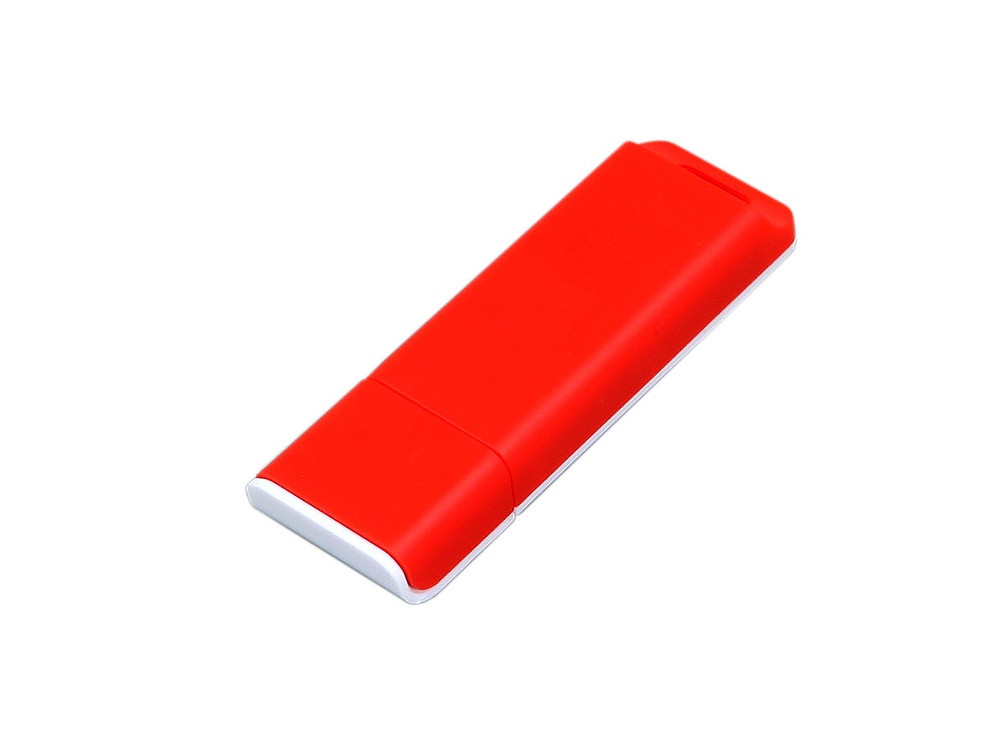 Флешка прямоугольной формы, оригинальный дизайн, двухцветный корпус, 64 Гб, красный/белый (артикул 6013.64.01)