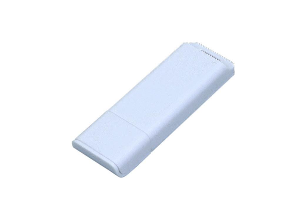 Флешка прямоугольной формы, оригинальный дизайн, двухцветный корпус, 64 Гб, белый (артикул 6013.64.06)