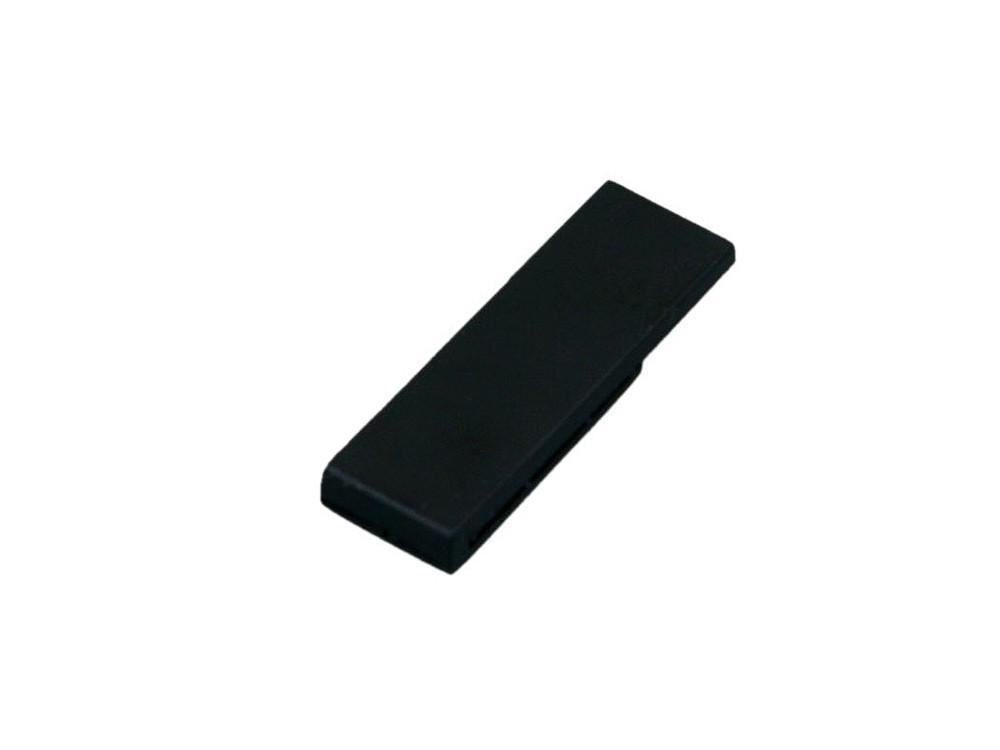 Флешка промо в виде скрепки, 16 Гб, черный