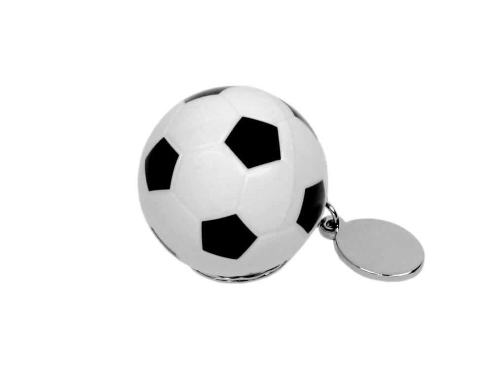 Флешка в виде футбольного мяча, 16 Гб, белый/черный (артикул 6041.16.06)