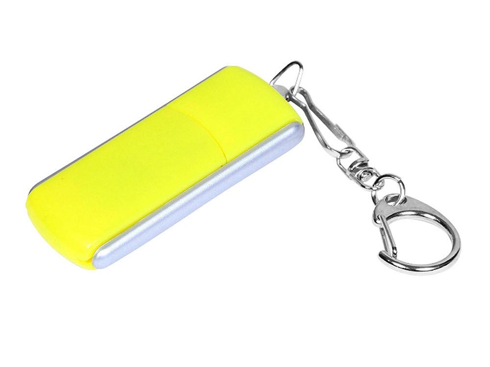 Флешка промо прямоугольной формы, выдвижной механизм, 16 Гб, желтый (артикул 6040.16.04)