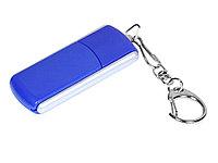 Флешка промо прямоугольной формы, выдвижной механизм, 32 Гб, синий