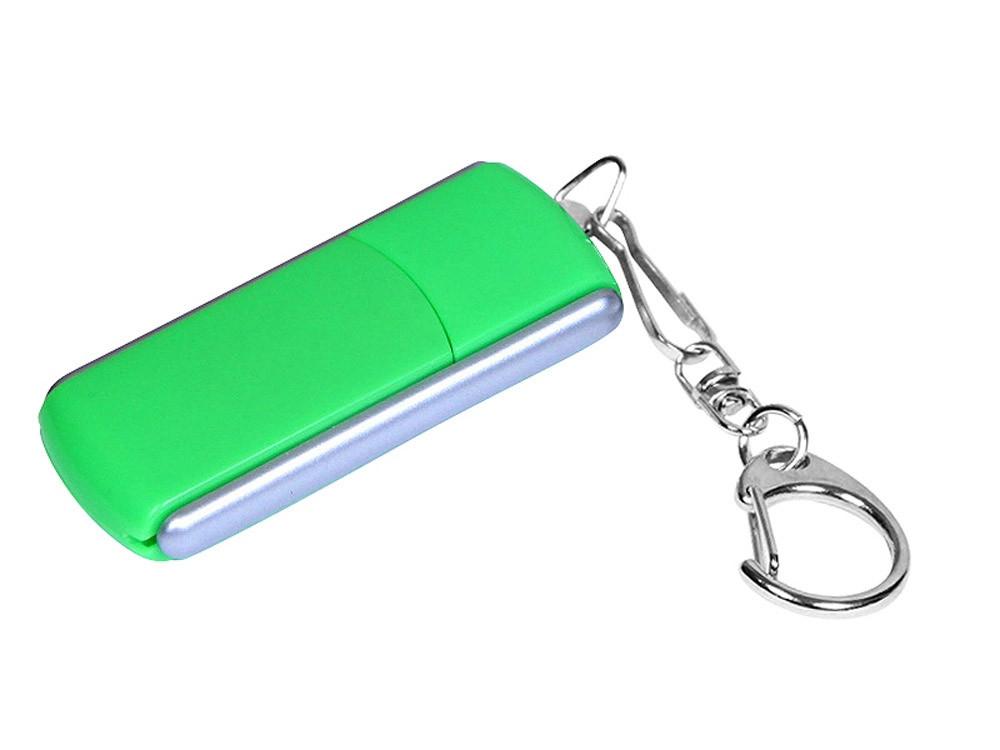 Флешка промо прямоугольной формы, выдвижной механизм, 32 Гб, зеленый (артикул 6040.32.03)