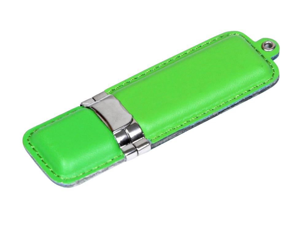 Флешка классической прямоугольной формы, 16 Гб, зеленый