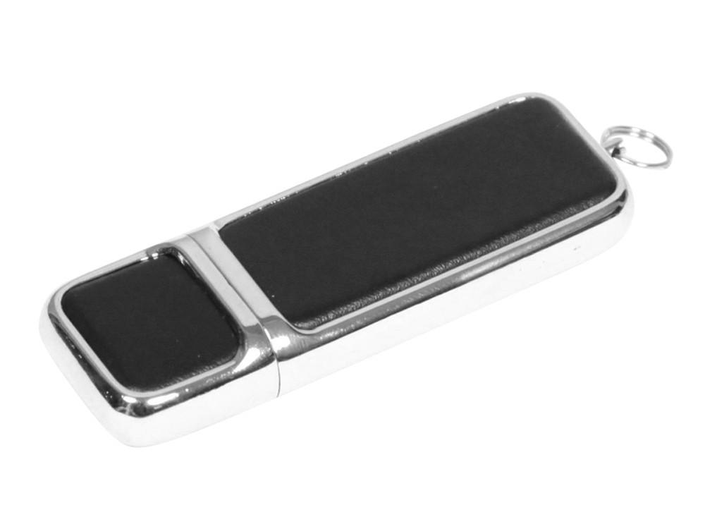 Флешка компактной формы, 16 Гб, черный/серебристый
