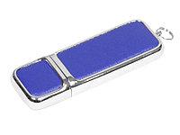 Флешка компактной формы, 32 Гб, синий/серебристый