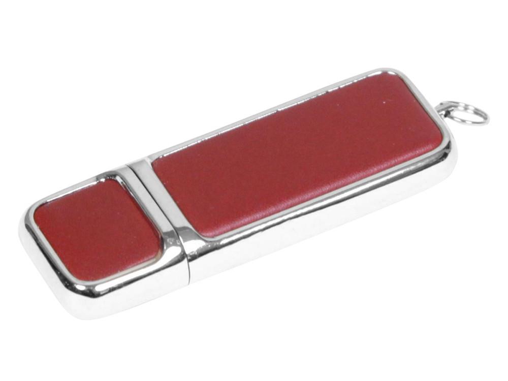 Флешка компактной формы, 32 Гб, коричневый/серебристый