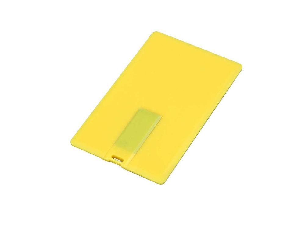 Флешка в виде пластиковой карты, 32 Гб, желтый