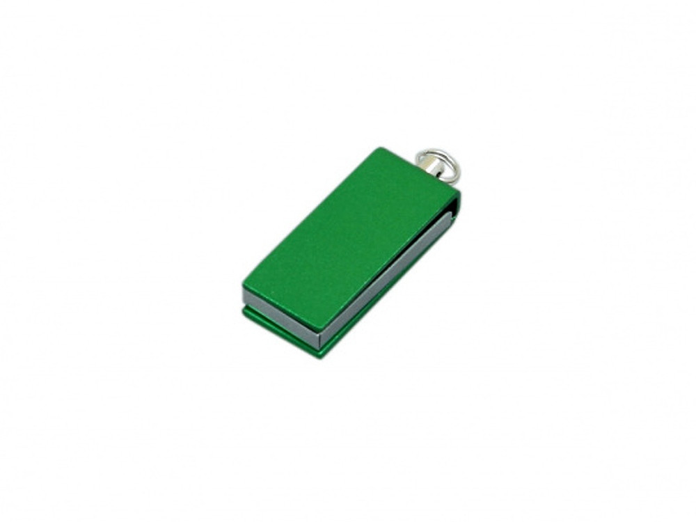 Флешка с мини чипом, минимальный размер, цветной  корпус, 32 Гб, зеленый