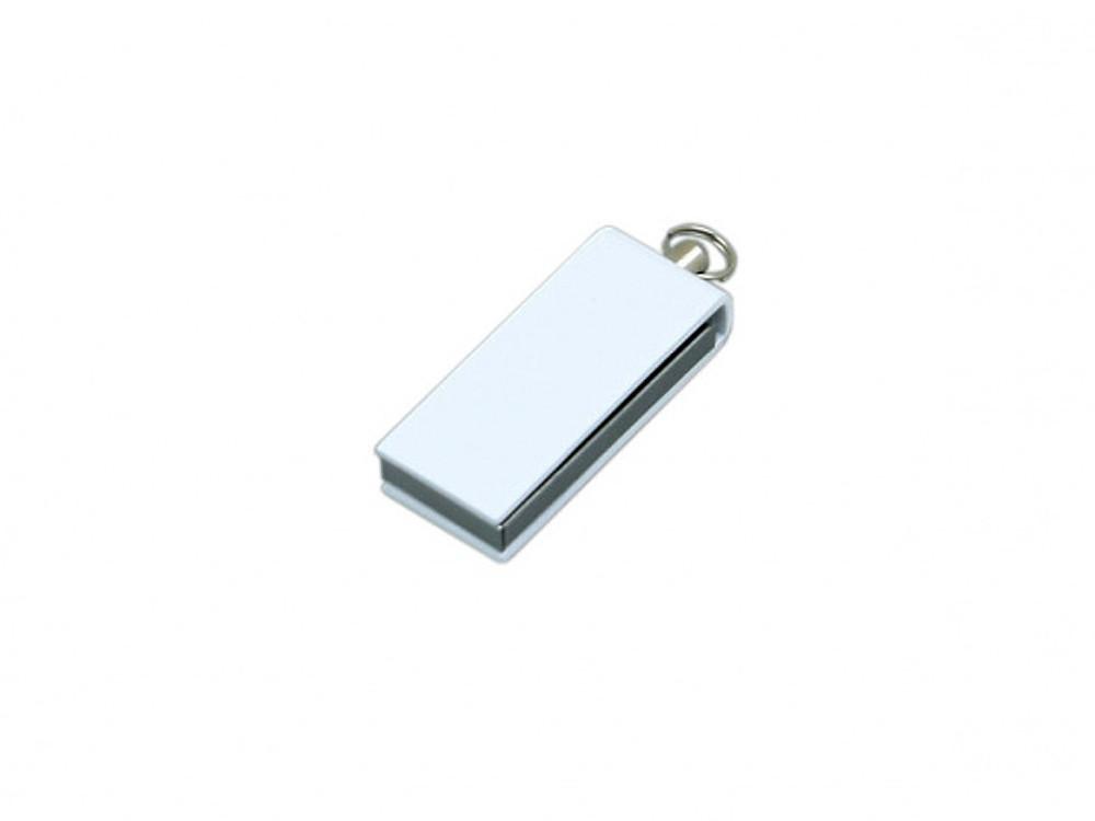 Флешка с мини чипом, минимальный размер, цветной  корпус, 32 Гб, белый