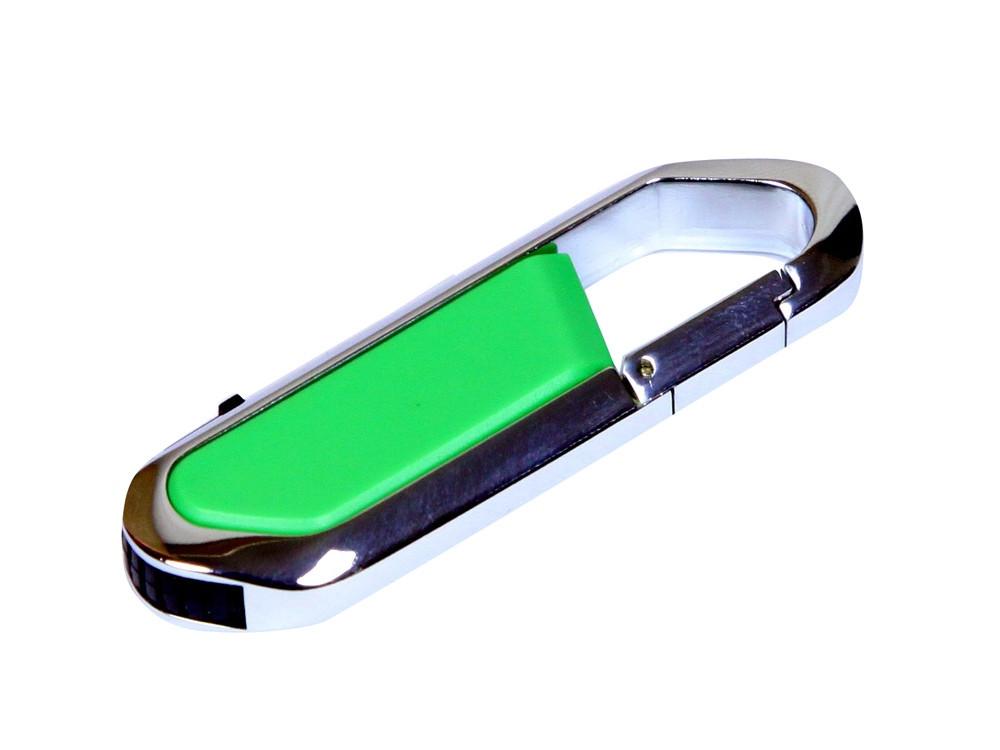 Флешка в виде карабина, 64 Гб, зеленый/серебристый