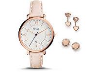 Подарочный набор: часы наручные женские, пусеты. Fossil