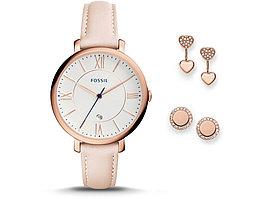 Подарочный набор: часы наручные женские, пусеты. Fossil (артикул 29450)