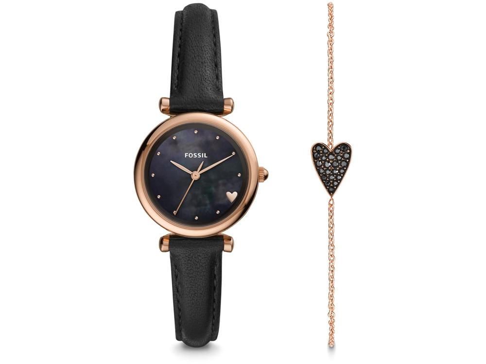 Подарочный набор: часы наручные женские, браслет. Fossil