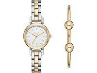 Подарочный набор: часы наручные женские, браслет. DKNY
