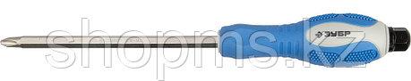 """Отвертка ЗУБР """"ПРОФИ АВТО"""" PH №1, 100мм, , ударная, сквозной Cr-Mo стержень с усилителем под ключ,, фото 2"""