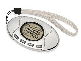 Шагомер со счетчиком калорий Marathon, серебристый (артикул 80143)
