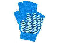 Перчатки противоскользящие для занятий йогой, голубой (артикул 80277)