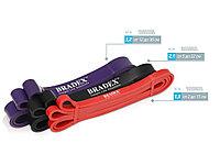 Набор фитнес-резинок Fitnesstape, черный, красный, фиолетовый (артикул 80299)