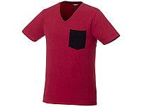 Мужская футболка Gully с коротким рукавом и кармашком, темно-красный/темно-синий, фото 1