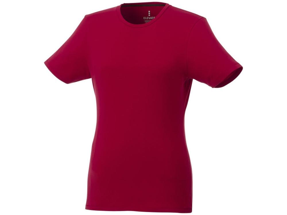 Женская футболка Balfour с коротким рукавом из органического материала, красный