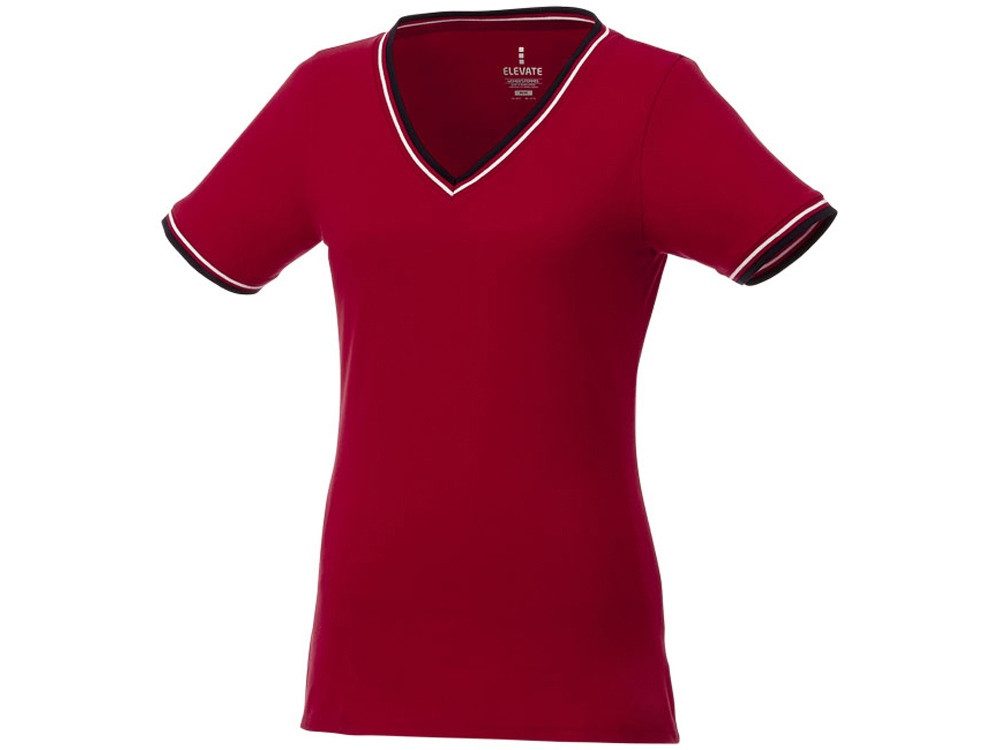 Женская футболка Elbert с коротким рукавом, красный/темно-синий/белый (артикул 3802725XL)