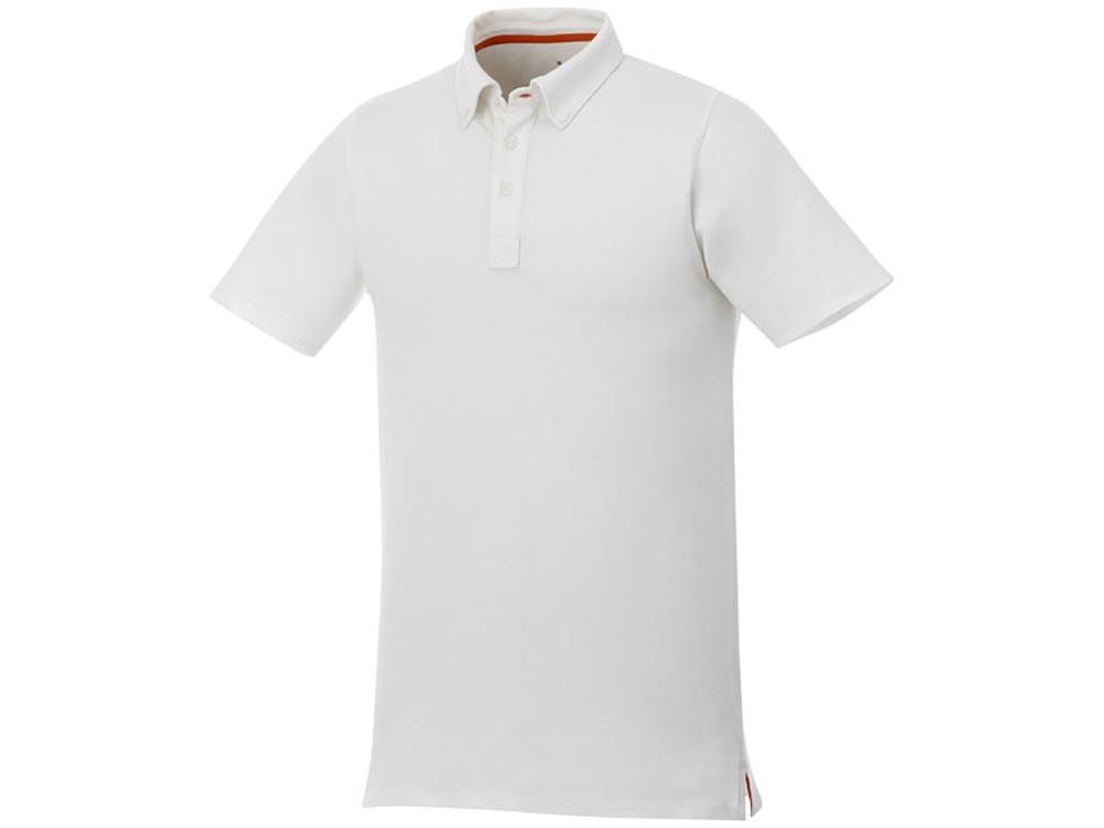 Мужская футболка поло Atkinson с коротким рукавом и пуговицами, белый (артикул 3810401XS)
