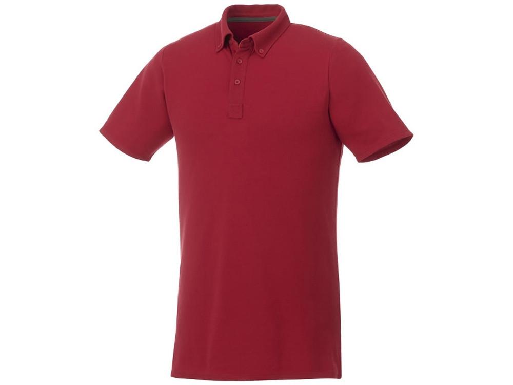 Мужская футболка поло Atkinson с коротким рукавом и пуговицами, красный (артикул 3810425XS)