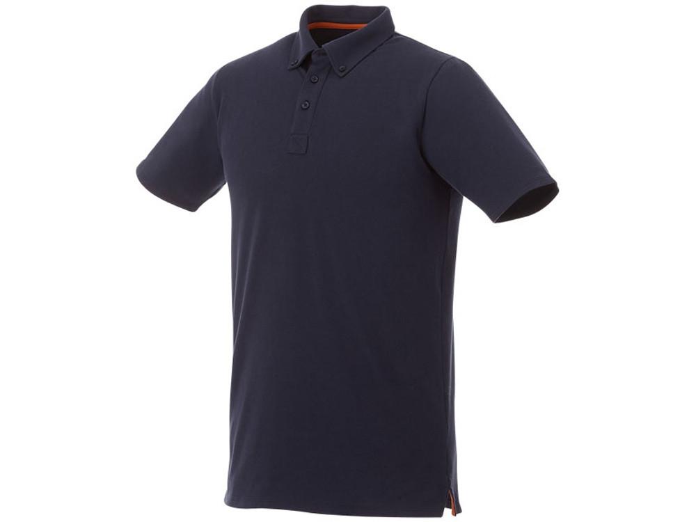 Мужская футболка поло Atkinson с коротким рукавом и пуговицами, темно-синий (артикул 3810449XS)