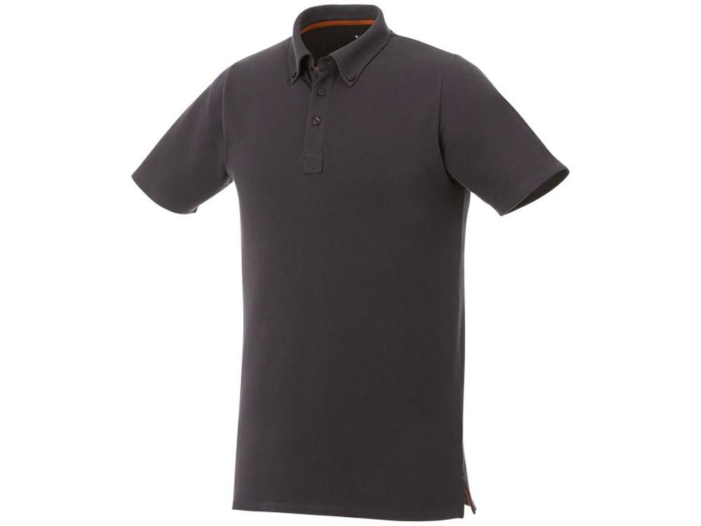 Мужская футболка поло Atkinson с коротким рукавом и пуговицами, серый графитовый (артикул 3810489M)