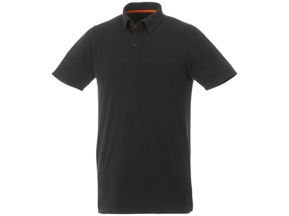 Мужская футболка поло Atkinson с коротким рукавом и пуговицами, черный (артикул 38104992XL)