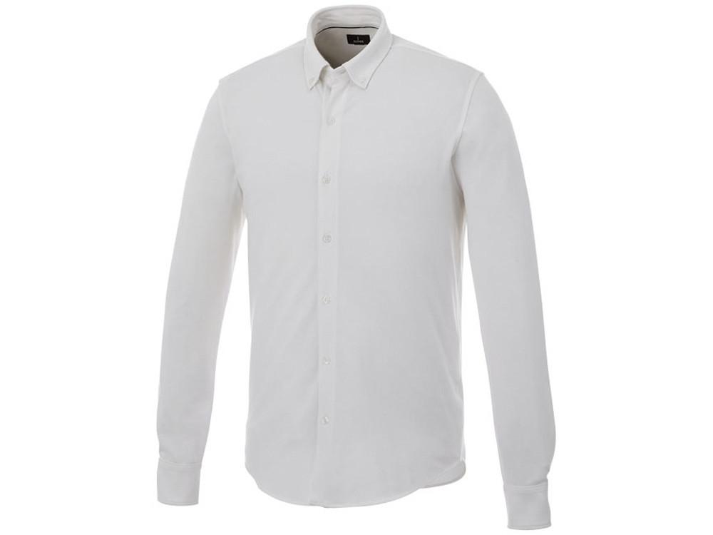 Мужская рубашка Bigelow из пике с длинным рукавом, белый (артикул 3817601S)