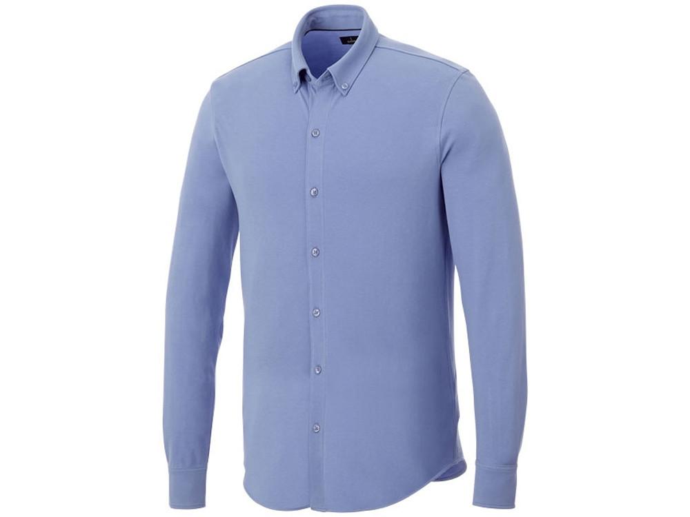 Мужская рубашка Bigelow из пике с длинным рукавом, светло-синий (артикул 38176403XL)