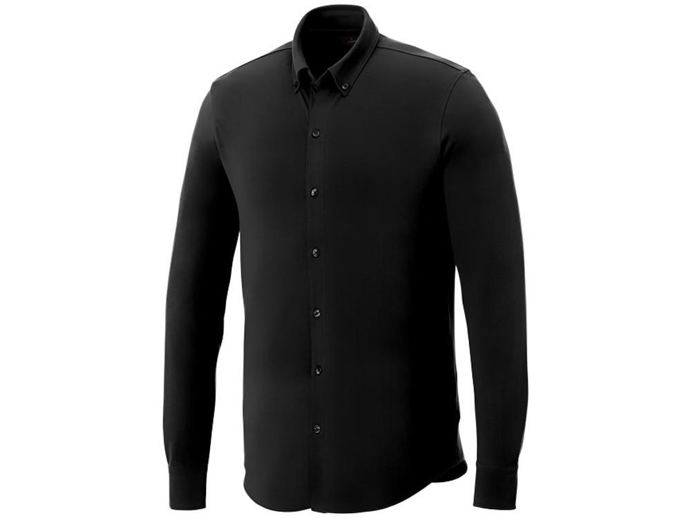 Мужская рубашка Bigelow из пике с длинным рукавом, черный (артикул 3817699L)