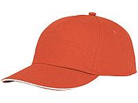 Пятипанельная кепка-сендвич Styx, оранжевый (артикул 38668330), фото 1