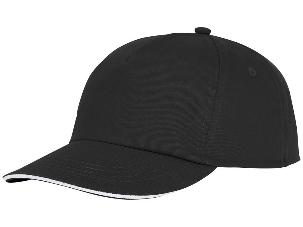 Пятипанельная кепка-сендвич Styx, черный (артикул 38668990)