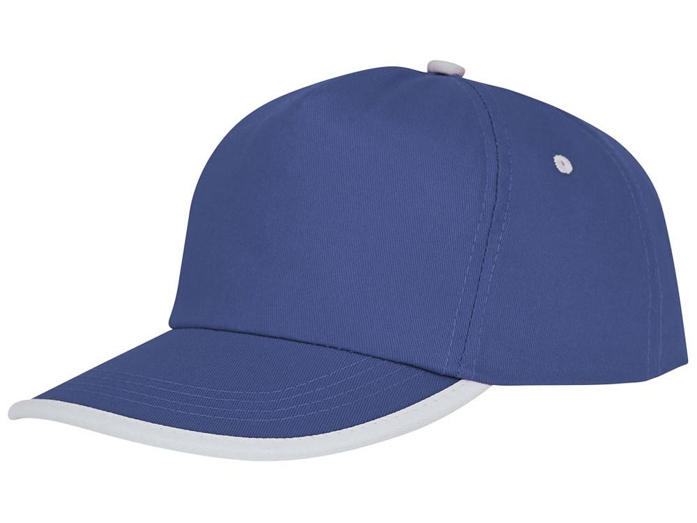 Пятипанельная кепка Nestor с окантовкой, синий/белый (артикул 38669440)