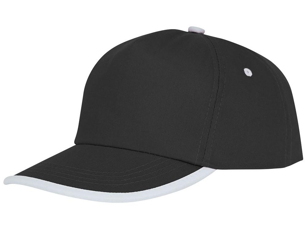 Пятипанельная кепка Nestor с окантовкой, черный/белый (артикул 38669990)