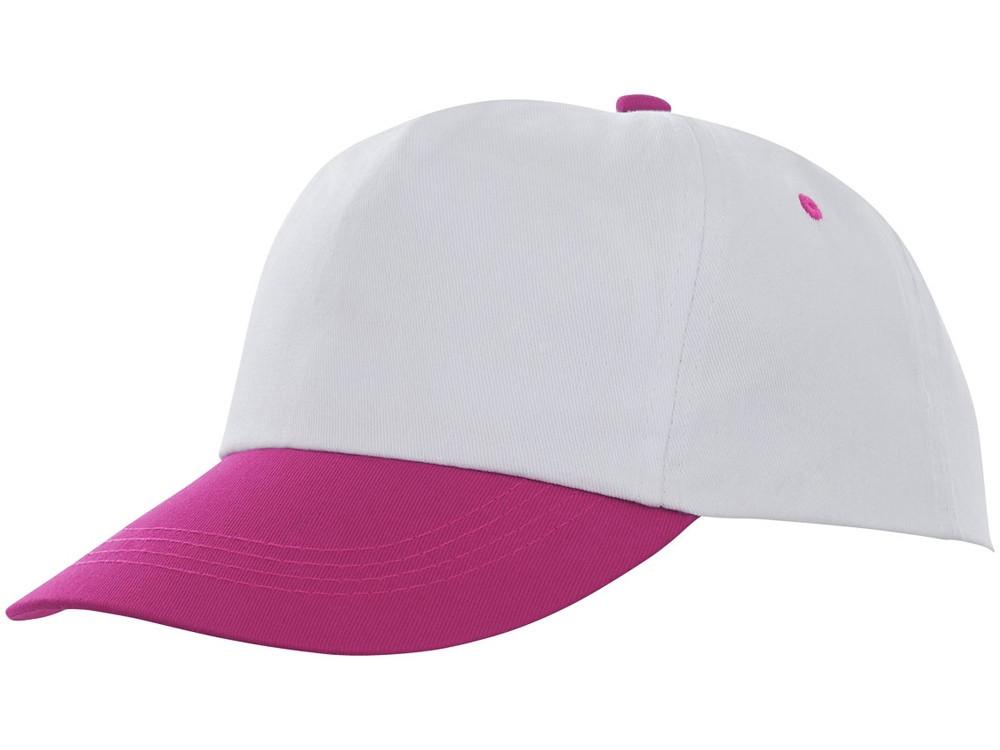 Пятипанельная двухцветная кепка Icarus, белый/розовый (артикул 38670210)