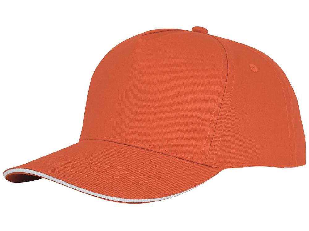Пятипанельная кепка-сендвич Ceto, оранжевый (артикул 38674330)