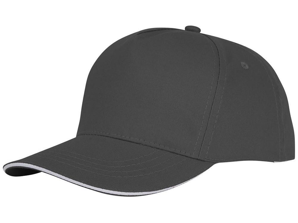 Пятипанельная кепка-сендвич Ceto, серый (артикул 38674890)