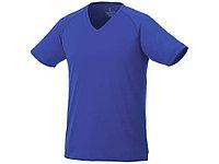 Модная мужская футболка Amery с коротким рукавом и V-образным вырезом, синий (артикул 39025443XL), фото 1