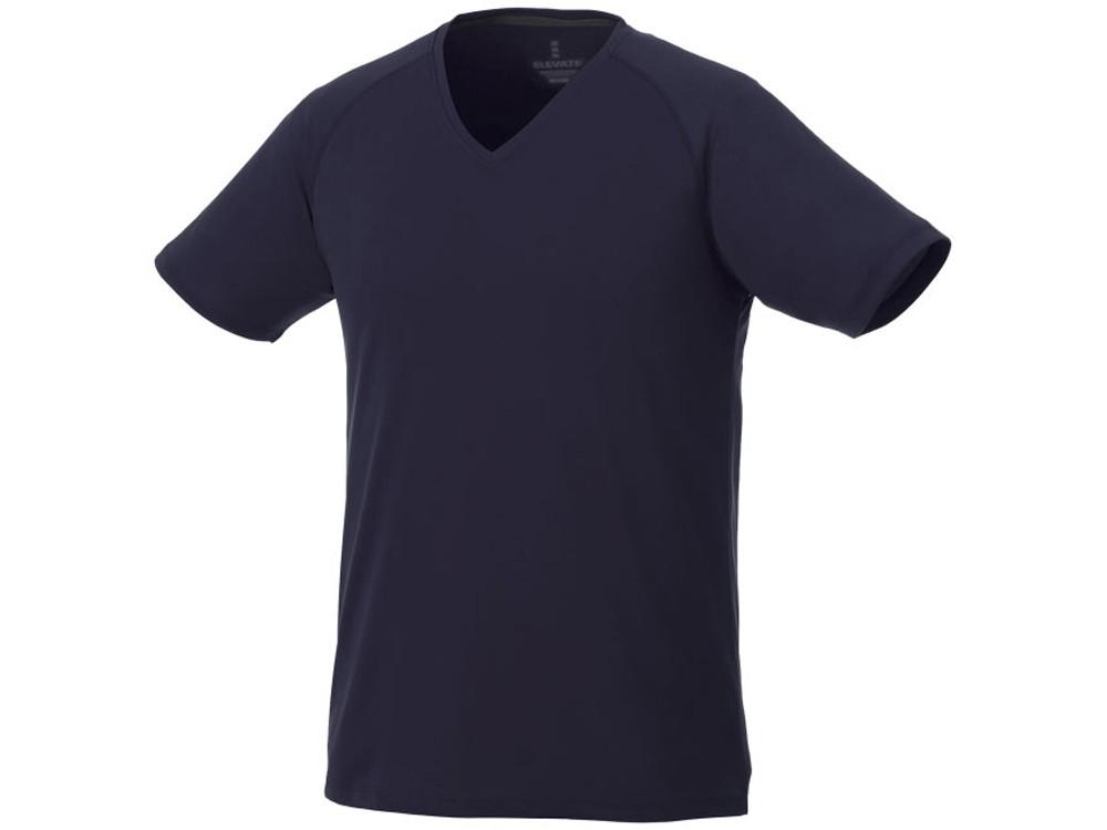 Модная мужская футболка Amery с коротким рукавом и V-образным вырезом, темно-синий (артикул 3902549XL)