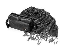 Подарочный набор: несессер, шарф, черный/серый (артикул 58761)