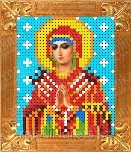 """Рисунок на ткани для вышивания бисером/крестом  """"Икона Божией Матери Семистрельная"""" КБИ-6018"""