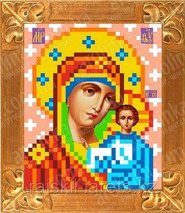 """Рисунок на ткани для вышивания бисером/крестом  """"Икона Божией Матери Казанская"""" КБИ-6023"""