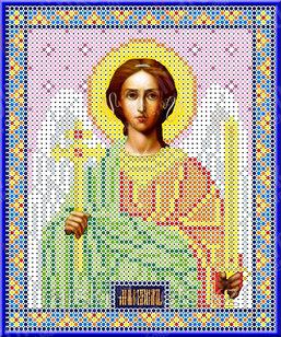 """Рисунок на ткани для вышивания бисером/крестом  """"Икона Ангел Хранитель"""" КБИ-5029"""