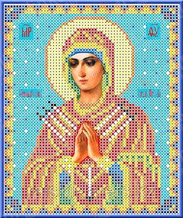 """Рисунок на ткани для вышивания бисером/крестом  """"Икона Божией Матери Семистрельная"""" КБИ-5018"""