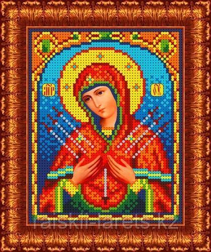 """Рисунок на ткани для вышивания бисером/крестом  """"Икона Божией Матери Семистрельная"""" КБИ-5018/1"""