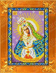 """Рисунок на ткани для вышивания бисером/крестом  """"Икона Божией Матери Остробрамская"""" КБИ-5019"""